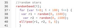Code : Randomizing Stars